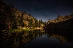 Gem Lake at night